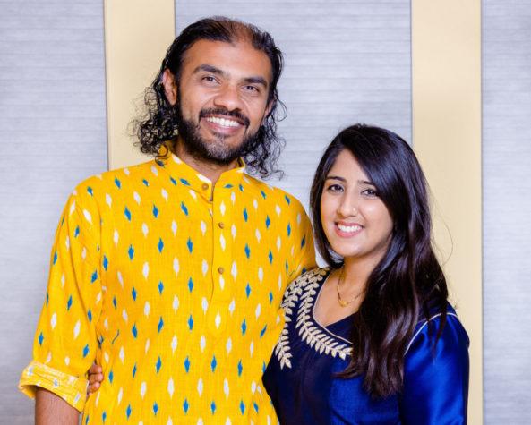 Sheenika and Varun on Diwali 2020 in California