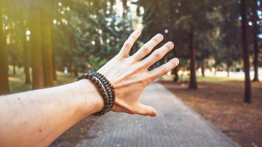 rudraksha on wrist