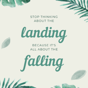 Stop thinking about the landing because it's all about the falling